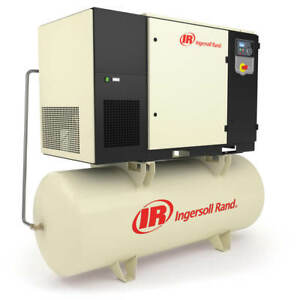 Ingersoll Rand Up6s 25 125 200v 120 gallon 3 phase 125 psi 25 hp Air Compressor