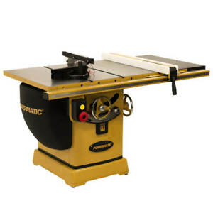Powermatic Pm25350wk 230 460v 50 inch 5 Hp Rip Table Saw W Accu fence And Bench