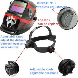Adjustable Auto Darkening Welding Helmet Mask Automation Uv ir Filter Shade