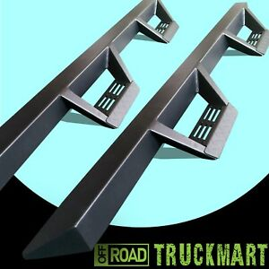 07 18 Fit Silverado Sierra Extend Cab Nerf Running Boards Triangular Step Bars