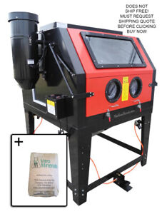 Redline 2 Person Dual Re270 Abrasive Glass Bead Sand Blast Blasting Cabinet