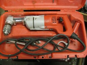 Milwaukee 1107 1 1 2 Right Angle Drill With Case Handle Ships Free