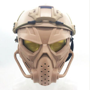 Tactical Airsoft Helmet with Full Face Protective Mask kit for Hunting Cosplay $49.99