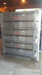 Blodgett 961 Triple Stack Pizza Ovens With New Superior Baking Stones
