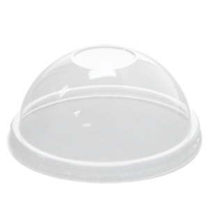 Karat Plastic Food Container Dome Lids No Hole For Froyo Ice Cream Cups C kdl