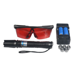 450nm High Power Focus Visible Blue Beam Laser Pointer Pen Box Burn Match 5mw Us