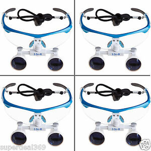 4pcs New Dental Surgical Binocular 3 5x420mm Loupes Optical Magnifier Glasses Ce
