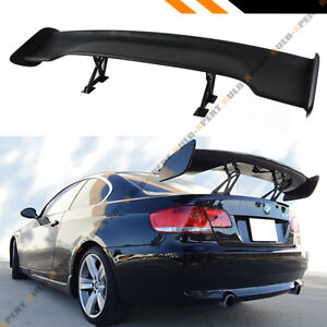 Universal 57 Inch Abs Adjustable Matt Black Wide Gt style Gt Trunk Spoiler Wing