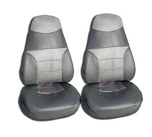 Mesh Vinyl High Back Car Seat Covers Set Of 2