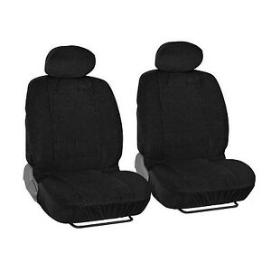 Fits Honda 4 Pc Black Scottsdale Seat Covers Front Pair Premium Cloth Material