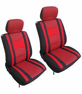 Fits Honda Automotive Car 4 Pc Mesh Black Red Seat Covers W Head Rest Covers