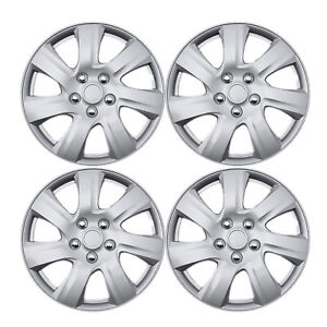 New 4 Pcs Silver 16 Hub Caps Wheel Cover Set Toyota Camry Style 2010 2012 1021