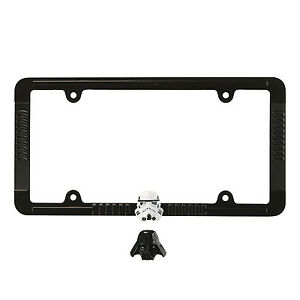 Disney Star Wars Darth Vader Stormtrooper Black Metal License Plate Frame