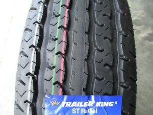 4 New St 205 75r15 Trailer King Ii Radial Tires D 8 Ply 2057515 75 15 75r R15