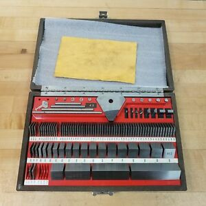 Starrett Webber Ss84a1x 95 Piece Block Gage Set 050 To 4 Used