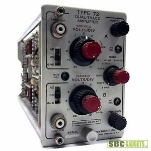 Tektronix Type 72 Dual trace Amplifier