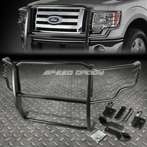 For 09 14 Ford F150 Pickup Truck Black Coated Mild Steel Front Grill Frame Guard