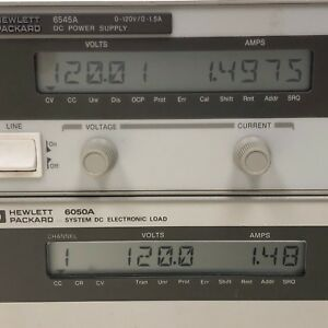 Hp Agilent Keysight 6545a Dc Power Supply 0 120v 0 1 5a 200w Load Tested