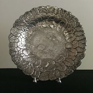 Vintage Reed Barton Silverplate Holloware Round Serving Platter