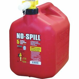 5 gallon No spill 1450 Poly Gas Can carb Compliant