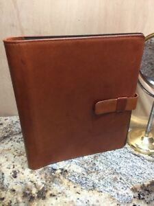 Daytimer Brown Leather Business Resume Folder Padfolio