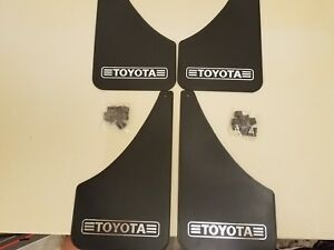 Nos Toyota Splash Guards old School Mud Flaps set Of 4 tundra 4 Runner Tacoma