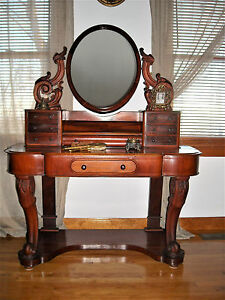 Victorian Dressing Table With Mirror Vanity Pick Up Only