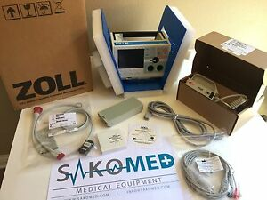 Zoll M Series Biphasic 3lead Pacing Aed fr Demo Units
