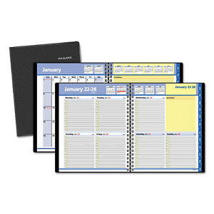 At a glance Quicknotes Weekly monthly Appointment Book 8 X 9 7 8 Black 2018