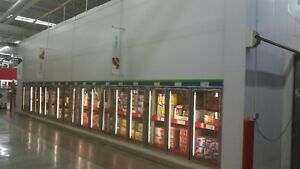 Used 40 Anthony Glass Doors Walk In Cooler Freezer