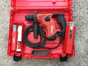 Hilti Te7 rotary Hammer Drill In Hard Case With 8 Bits Ships Free