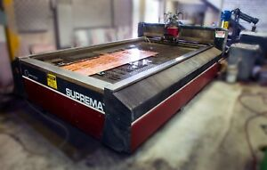2009 Mitsubishi Suprema Dx612 Cnc Waterjet Cutting Ref 7795581