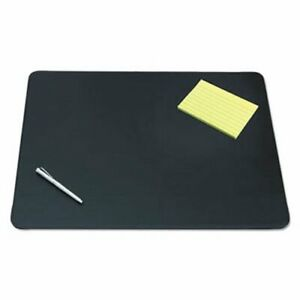 Designer Desk Pad W decorative Stitching 24 X 19 Blk aop510041