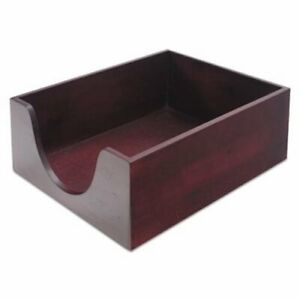 Carver Hardwood Legal Stackable Desk Tray Mahogany cvr08223