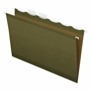 Pendaflex Lift Tab 2 Capacity Hanging Folders green 20 Per Box pfx42703