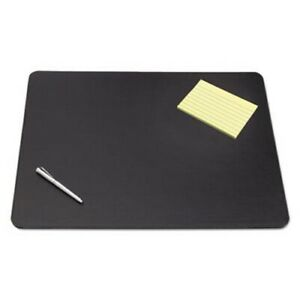 Artistic Designer Desk Pad W decorative Stitching 36 X 20 Black aop510061