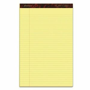 Ampad Writing Pads Legal wide Ruled Canary 50 sheet Pads Dozen top20030
