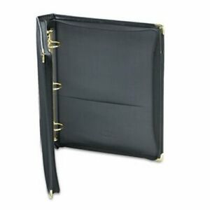 Samsill Zippered Ring Binder 11 X 8 1 2 1 1 2 Capacity Black sam15250