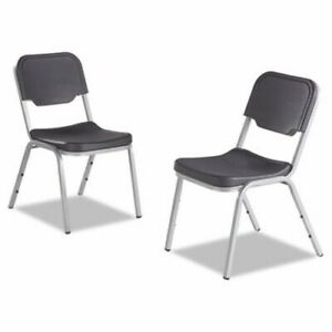 Iceberg Rough N Ready Series Original Stack Chair Blk silver 4 ctn ice64111