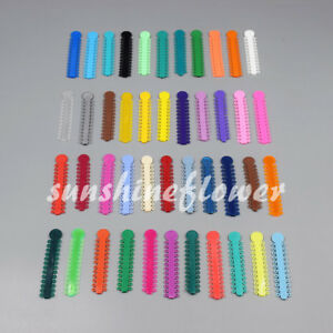 45 Packs Dental Ligature Ties Orthodontics Elastic Rubber Bands Multi Color