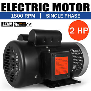 Electric Motor 2 Hp 1 Phase 1800rpm Tefc 5 8 shaft Shdc F Insulation General