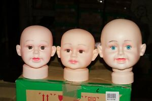 Baby Kids Mannequin Professional Head Manequin Shop Display Lot Of 3