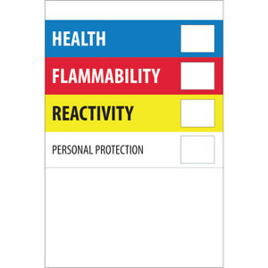 Tape Logic Labels health Flammability Reactivity 2 X 3 Multiple 500 roll
