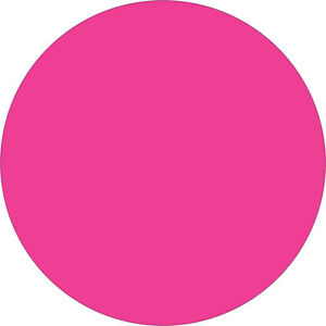 Tape Logic Inventory Circle Labels 2 Fluorescent Pink 500 roll Dl613k