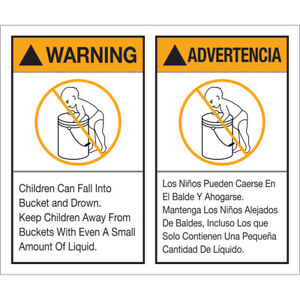 Tape Logic Labels warning Advertencia Label Set 5 X 6 Multiple 500 roll