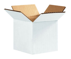 Box Partners Corrugated Boxes 4 X 4 X 4 White 25 bundle 444w