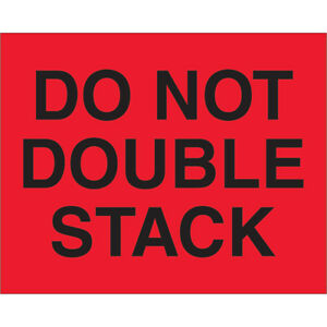 Tape Logic Labels do Not Double Stack 8 X 10 Fluorescent Red 250 roll Dl1094