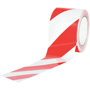 Tape Logic Striped Vinyl Tape 7 0 Mil 3 X 36 Yds Red white 16 case T9336rw