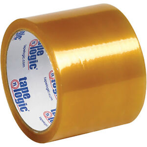 Tape Logic 53 Pvc Natural Rubber Tape 2 1 Mil 3 X 55 Yds Clear 24 case T90653