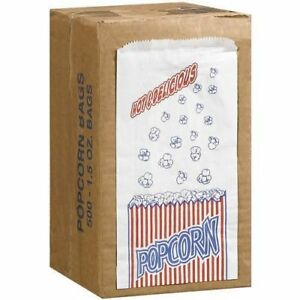 Great Northern Popcorn Company 1 1 2 ounce Duro Bag Bags Case Of 500 Tabletop